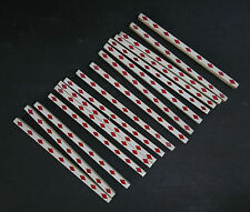 Vintage Tile Liners-Set of 16 Red Diamonds on White