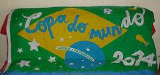 DRAPEAU DE SUPPORTERS COUPE DU MONDE 2014 BRESIL 150 x 90 cm.