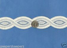 """Swiss Cotton 1 1/2"""" TWISTED Insertion Trim Champagne Dolls/ Quilting NEW BTY"""