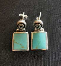 Beautiful Solid 925 Sterling Silver Turquoise Earings