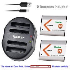 Kastar Battery Dual USB Charger for Sony NP-BN1 BC-CSN Sony Cyber-shot DSC-W800