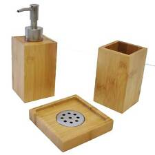 bad sets aus bambus mit zahnb rstenhalter zubeh r g nstig. Black Bedroom Furniture Sets. Home Design Ideas