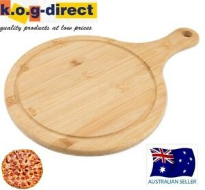 6 X Wooden Pizza Paddle Cheese Serving Tray Plate Chopping Board Round HW-322
