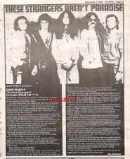 DEEP PURPLE Perfect Strangers album review 1984 UK ARTICLE / clipping