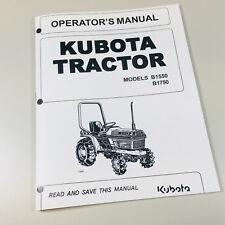 KUBOTA B1550 B1750 TRACTOR OPERATORS OWNERS MANUAL MAINTENANCE SPECIFICATIONS