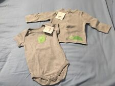 Nwt Gymboree Gray Turtle Sweater and Bodysuit Size 6-12 Months