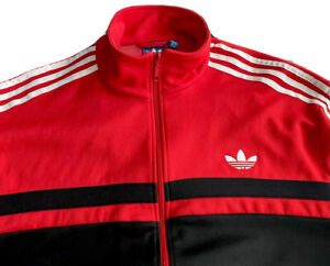 ADIDAS ORIGINALS ADI-FIREBIRD TREFOIL TRACK JACKET RED/BLACK/WHITE MENS SIZE XXL