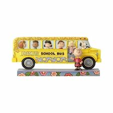 Jim Shore Peanuts Gang School Bus Buddies Snoopy Charlie Brown 4059439 NEW