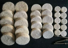 33 Soft Felt Polishing Buffing Wheel Mixed Set Accessory for Dremel Rotary Tool