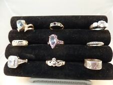 925 STERLING SILVER MISCELLANEOUS RINGS LOT OF 9  VARIOUS SIZE  # S 1465