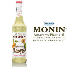 MONIN Coffee & Cocktail Syrups - 1L AMARETTO Syrup - USED BY COSTA COFFEE
