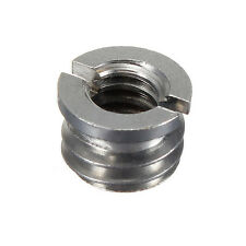 Metal 1/4 Inch Female to 3/8 Inch Male Converter Screw Adapter