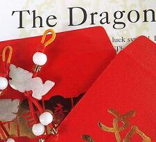 Dragon Jade Chino Zodiaco Animal Colgante Red Envelope fiesta de cumpleaños de Año Nuevo