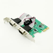 1x 9-Pin Serial Ports DB9 RS232 PCI-E Adapter Card Full Height Free High Profile