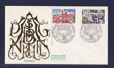 enveloppe 1er jour   paire Europa  Strasbourg       1977