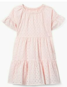 NWT Gymboree Pink Eyelet Spring Summer Easter Dressy Dress Girls size S 5 6