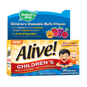 Alive! Children's Multi-Vitamin and Mineral Tablets   Free Tracked 48hr P&P
