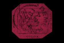 Stampa incorniciata-Guyana Britannica 1c Magenta TIMBRO valutato $9,480,000 (immagine)