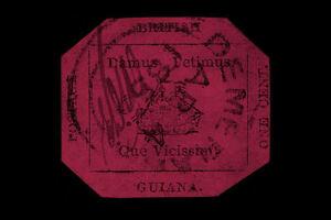 Framed Print - British Guiana 1c Magenta Stamp Valued at $9,480,000 (Picture)