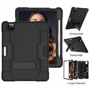 Heavy Duty Stand Case For iPad Pro 12.9 2021 11'' 8765 Air Mni Defender Cover