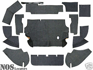 Austin Healey 100-4 12-pc Armacord Trunk Liner Kit - CONCOURS GRADE - SALE