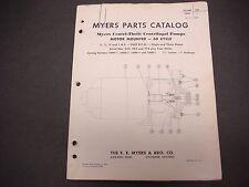 F.E. Myers Pump Co. Parts Catalog 1957 Centri-Thrift Pumps 3450 R.P.M. M4260