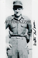 D-Day Utah Beach Bud Moore later became a legendary NASCAR owner SIGNED 4x6