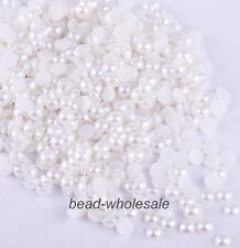 2000x Half Pearl Round Bead Flat Back Scrapbook for Craft FlatBack 2 3 4mm