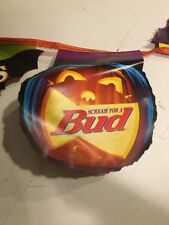 Halloween Bud & O'Doul's String banner Beer Sign 1998