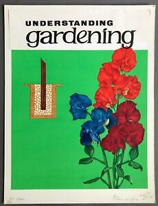Original Painted Cover Illustration for Understanding Gardening  March 21, 1964
