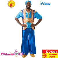 Licensed Mens Genie Aladdin Prince Disney Costume Halloween Blue Adult Book Week