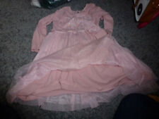Girl's Next Dusky Pink Frill Netting Party Dress Size 4-5 Years  (#357)