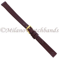 10mm Downing Burgundy Turned Edge Genuine Lamacalf Ladies Band SHORT 722-5110