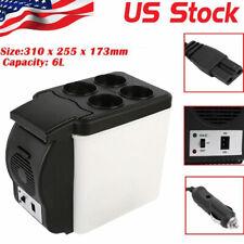 Mini 6L Cooler Cube Fridge Car Travel 12V Refrigerator Freezer Truck w/Us Plug
