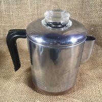 Vtg Revere Ware 1801 Percolator Copper Clad Bottom Coffee Pot 8-Cup Complete