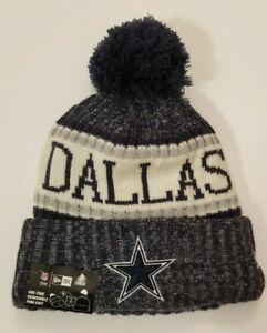 DALLAS COWBOYS New Era Cuffed Child Pom Knit Hat Beanie Star Logo NWT *MSRP $26*