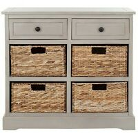 Bailey Storage Cabinet - Vintage Gray - Safavieh
