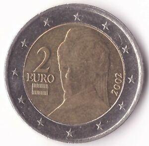 2 Euro 2002 Austria Coin KM#3089 - Bertha von Suttner