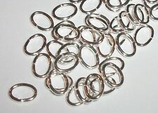 Jumpring oval 7x5mm Silver Plated brass Open Jump rings 18 Gauge 100 pc (5336)