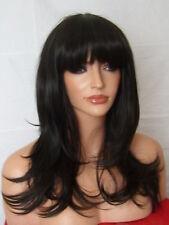 Dark Brown Wig Fashion Medium Natural LOOK Full Head Wavy Curly Ladies Wig F2