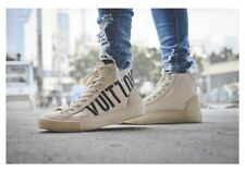 71134b179ae3 Louis Vuitton Tattoo High Top Sneakers Cream Ivory Beige US 10.5-11 UK 10 EU