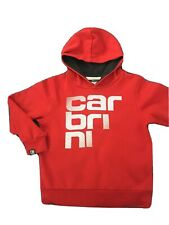 Boys Red Carbrini Hoodie Jumper Clothes Size Age 5-6 Years