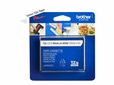 516126 Brother Tapes Tze231s 12mm Wh/black