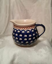 Boleslawiec Pottery Creamer Pitcher Vintage