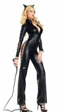 Sexy Halloween Costume Leather Jumpsuit Wild Cat Leopard Catsuit Cosplay 27