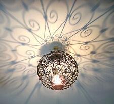 lustre plafonnier marocain fer forgé lampe orientale lanterne applique boule