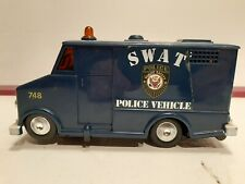 """Vintage 1976 S.W.A.T, TV Show Battery Operated Van 7"""" Works Good L@@K Shelf C1"""
