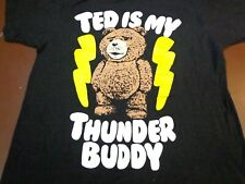 TED IS MY THUNDER BUDDY - SMALL  - BLACK T-SHIRT- L9