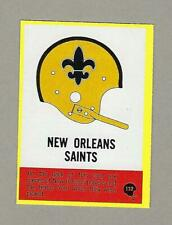 1967 Philadelphia #121 New Orleans Helmet Card- Ex+