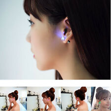 2PC Amazing Light Up LED Glowing Ear Studs Hoop Earrings Jewelry for Dance Party